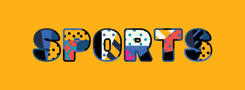 Sportbegreppsord Art Illustration royaltyfri illustrationer