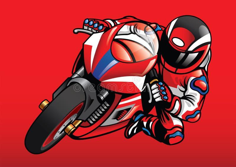 Sportbike setkarz w akci ilustracji