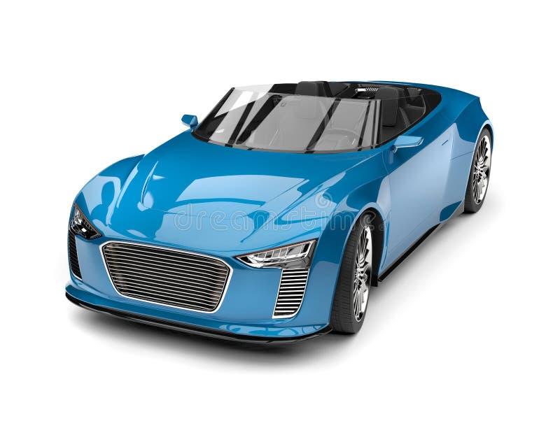 Sportbil för blå modern roadster för Celadon toppen stock illustrationer