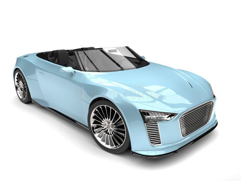 Sportbil för modern roadster för blått för ny luft toppen royaltyfri illustrationer
