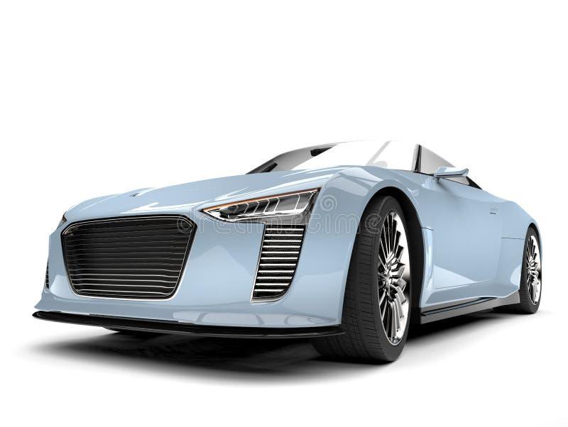 Sportbil för modern roadster för blått för ny luft toppen - closeupskott för främre sikt stock illustrationer
