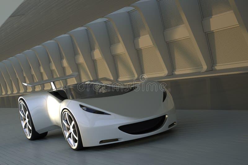 Sportbil i tunnel royaltyfria foton