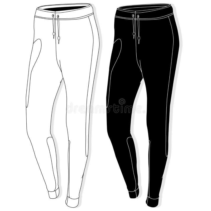 Sportbroeken/broek stock illustratie