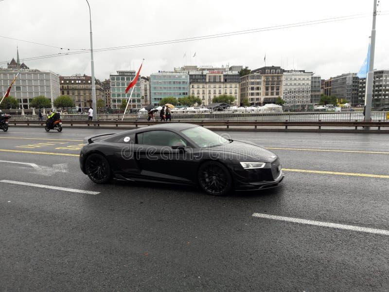 sportcar的黑色 免版税库存图片