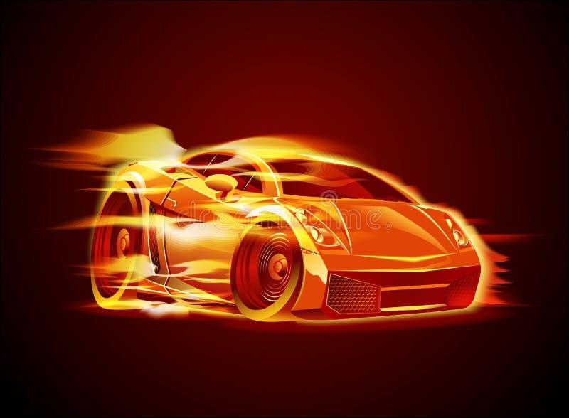 sportcar διάνυσμα κινούμενων σχ&epsilo διανυσματική απεικόνιση