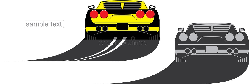 sportcar κίτρινος ελεύθερη απεικόνιση δικαιώματος