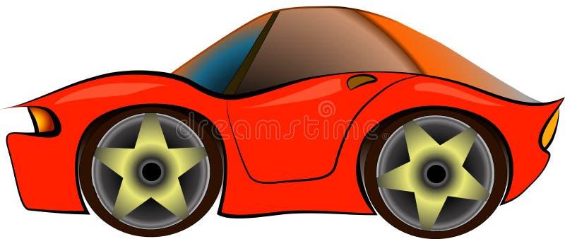Sportcar beeldverhaal royalty-vrije illustratie