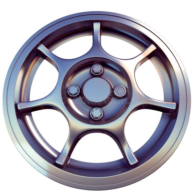 Sportcar-Lichtleichtmetallfelge 3D übertragen Ansicht von unten lizenzfreie stockfotos