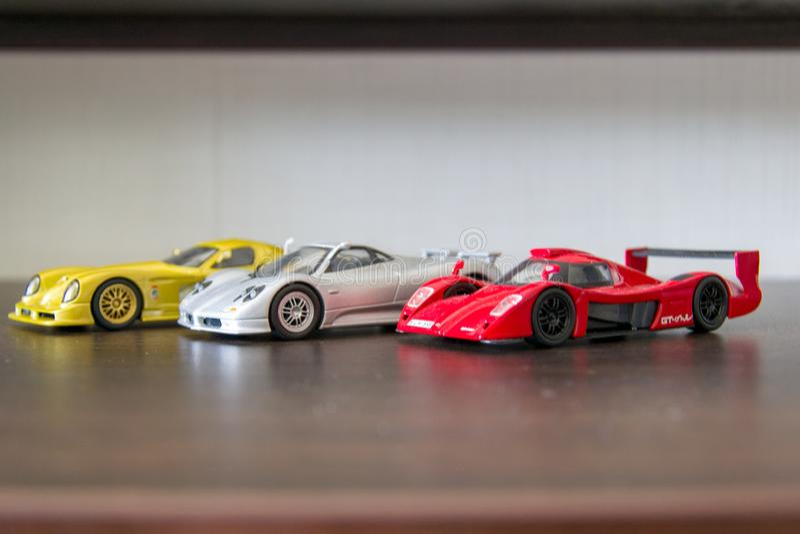 Sportcar models stock photo