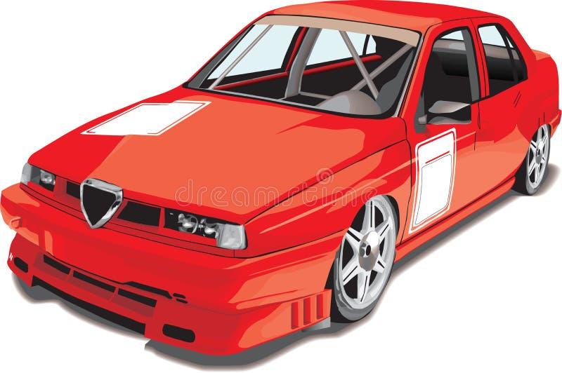 sportcar rouge illustration libre de droits