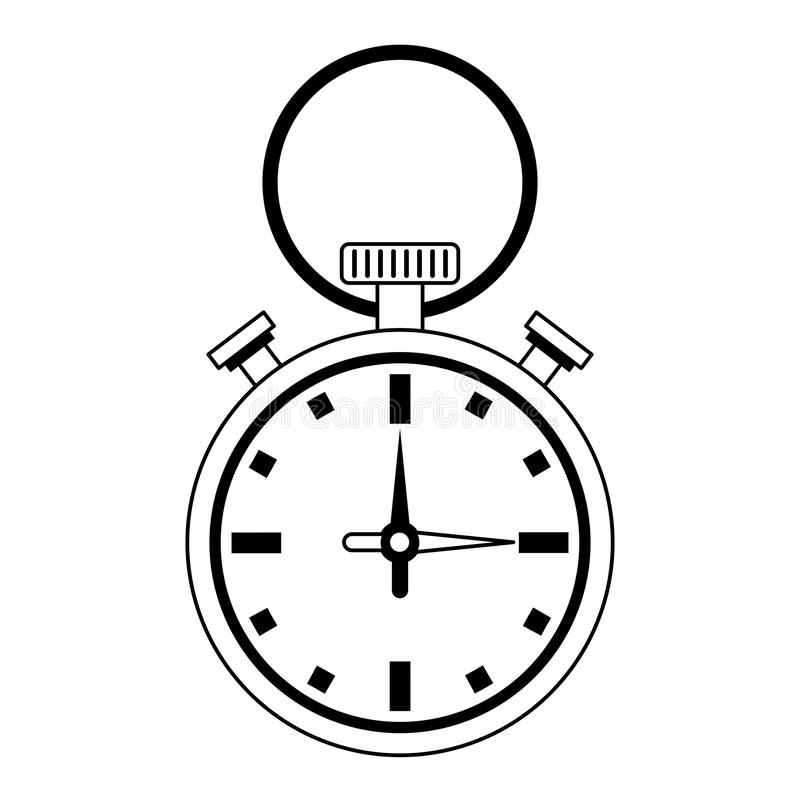 Sportchronometersymbol lokalisierte vektor abbildung