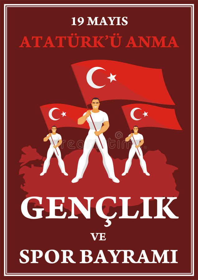 sportdag av den Turkiet affischen royaltyfri illustrationer