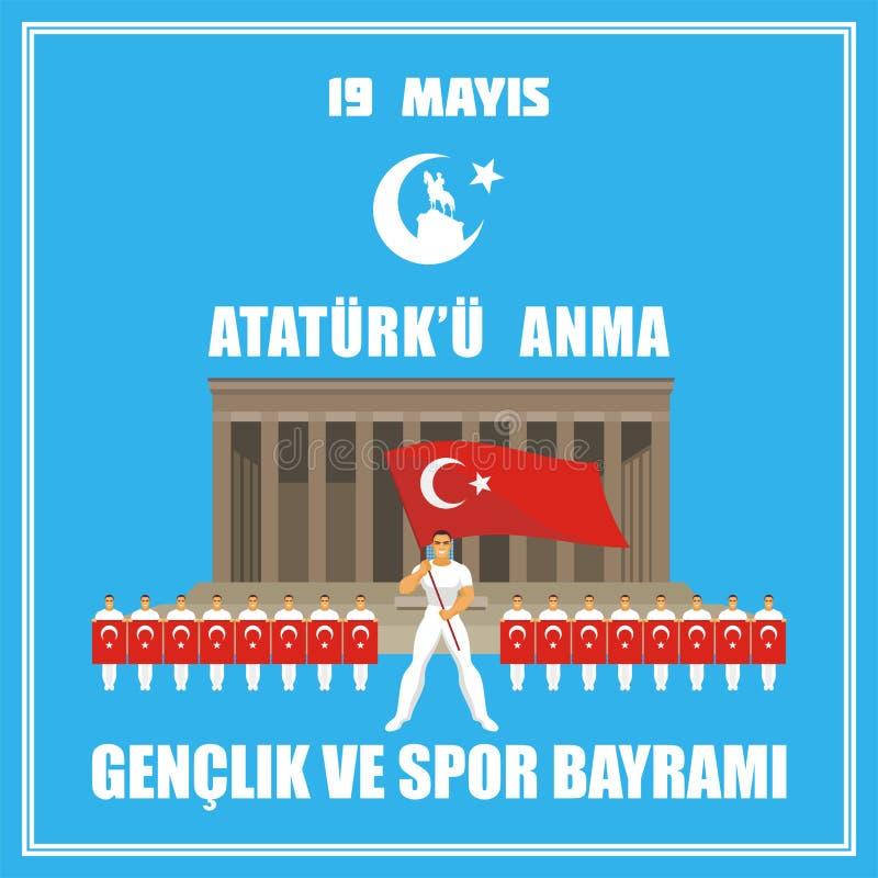 sportdag av Turkiet royaltyfri illustrationer
