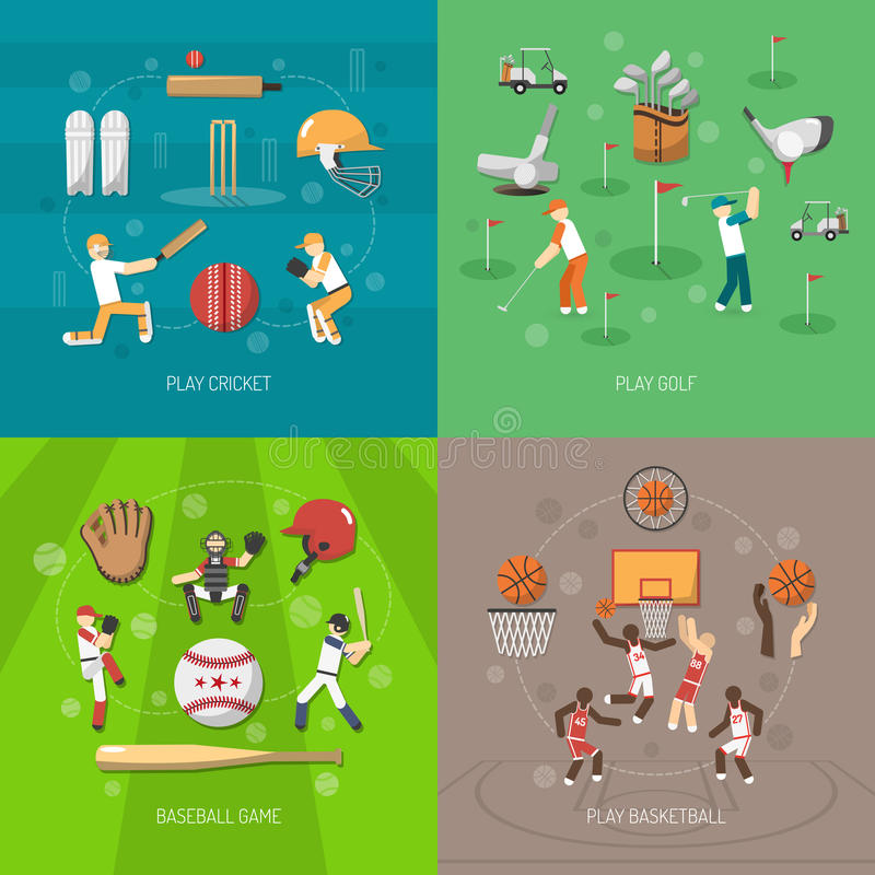 Sportdesignbegrepp stock illustrationer