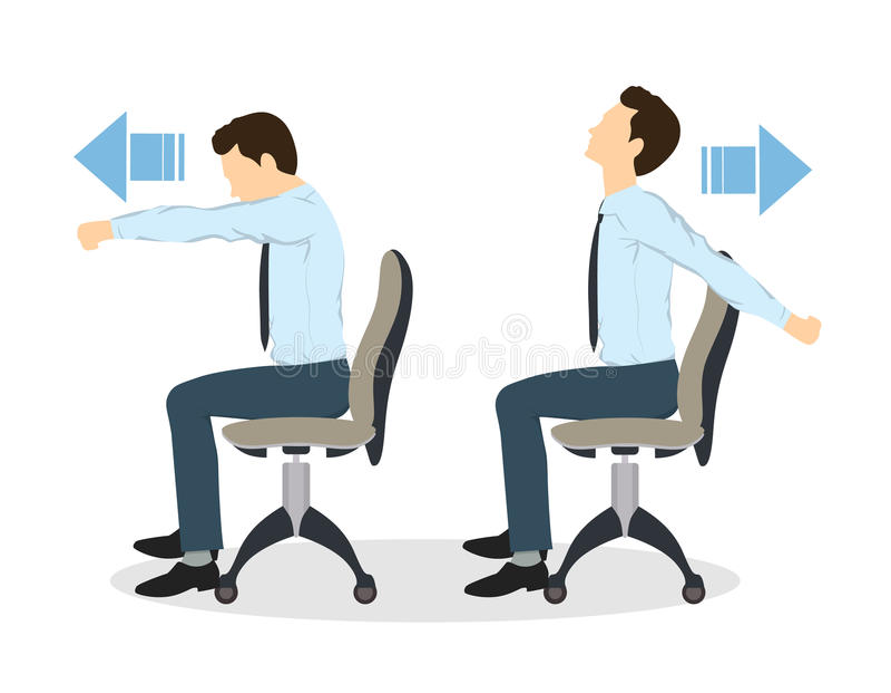 Sporten övar för kontor stock illustrationer