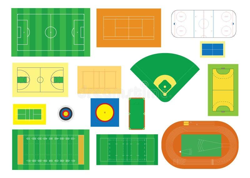 Sporten stock illustratie