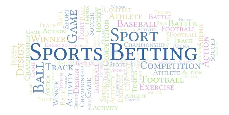 Sporten die woordwolk wedden vector illustratie