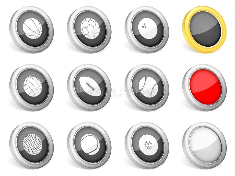 sporten för symboler 3d klumpa ihop sig royaltyfri illustrationer