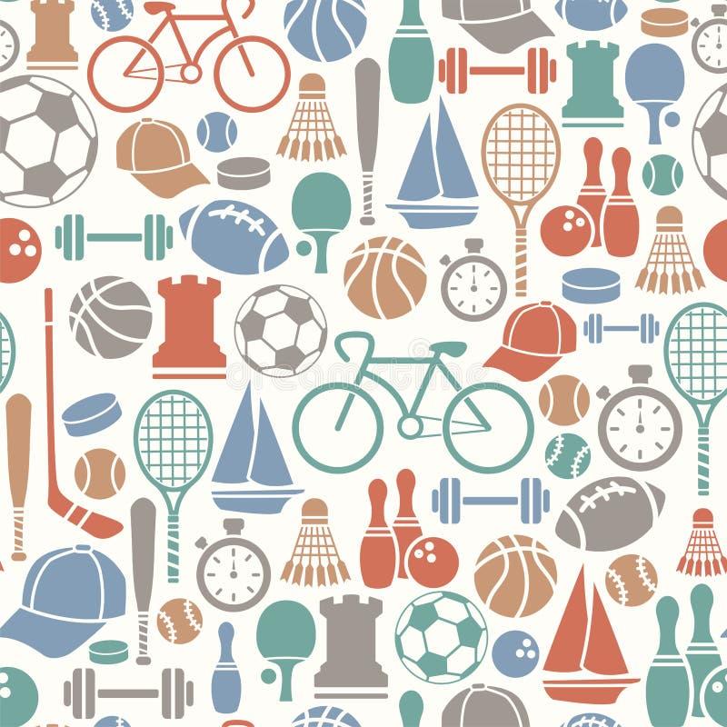 Sporten mönstrar royaltyfri illustrationer