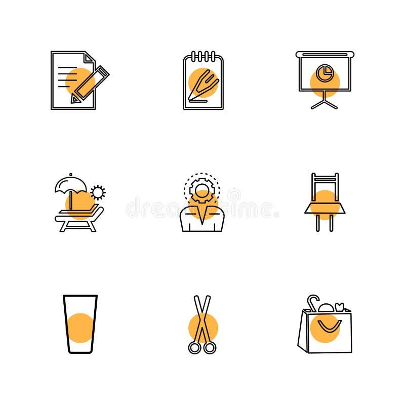 sporten, spelen, de zomer, eps pictogrammen geplaatst vector royalty-vrije illustratie