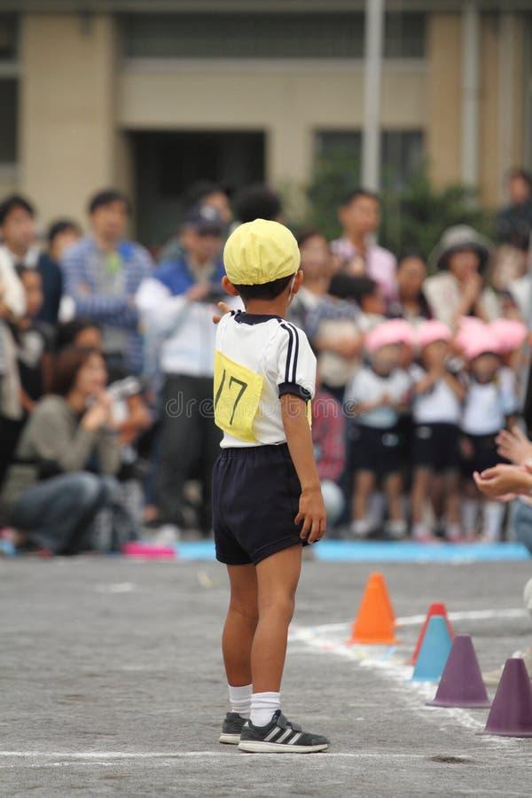 Sportenfestival bij kleuterschool royalty-vrije stock afbeeldingen