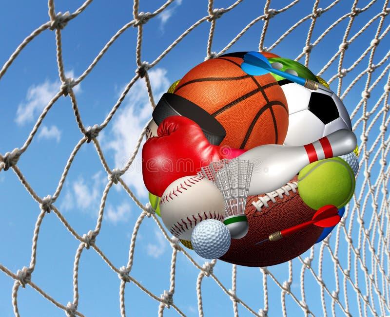 Sportenfitness Succes royalty-vrije illustratie