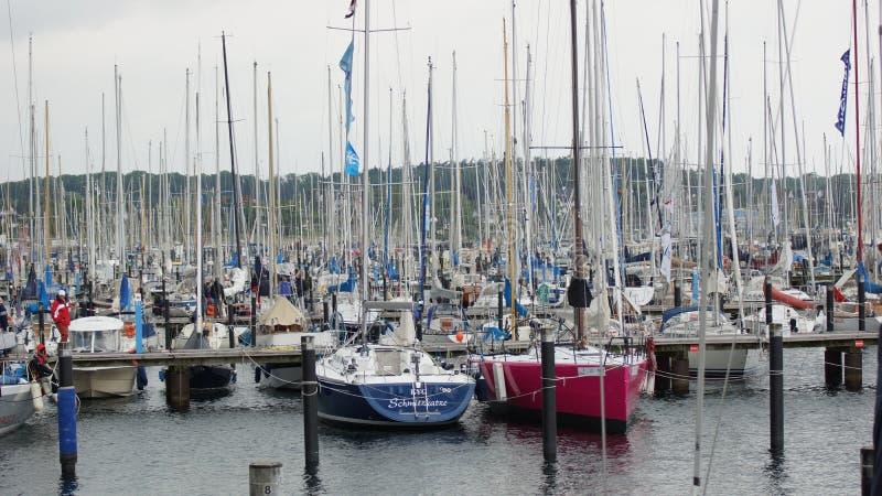 sportenjachthaven en boothaven - schilksee van Kiel royalty-vrije stock foto