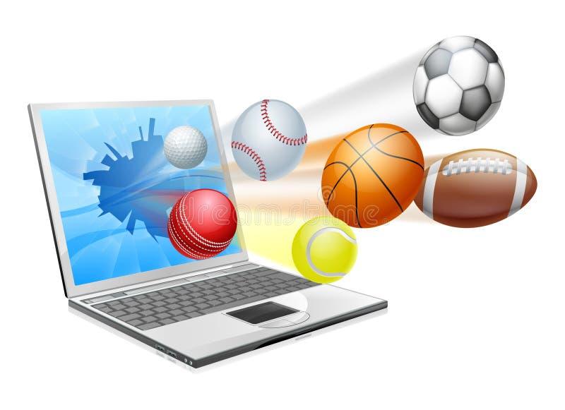 Sportenlaptop app concept royalty-vrije illustratie