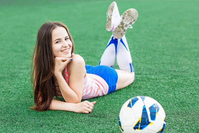 Sportenmeisje stock foto's