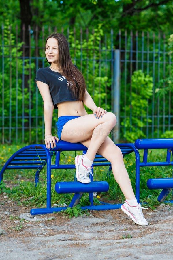 Sportenmeisje royalty-vrije stock afbeelding