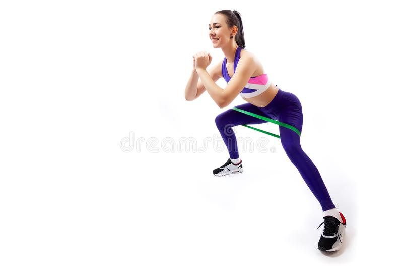 Sportenoefeningen voor vrouwen stock foto's
