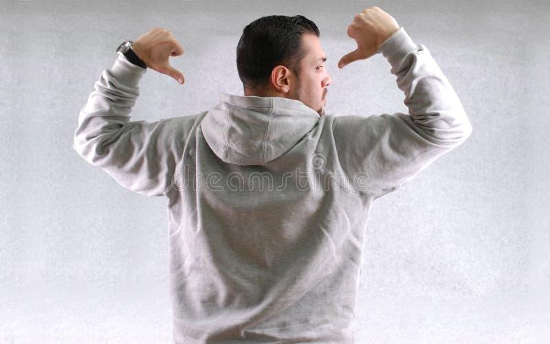 Sportfan-Abnutzungssweatshirt lizenzfreie stockfotografie