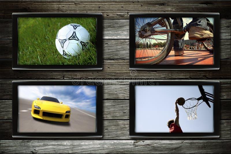 Sportfernsehapparat stockbild