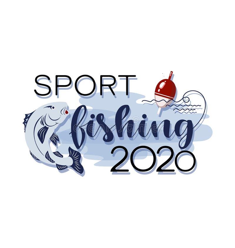 Sportfischen 2020 float stock abbildung