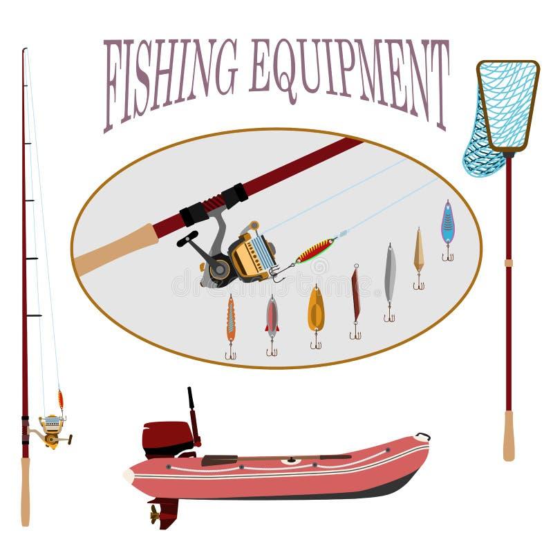 Sportfischen jederzeit stock abbildung