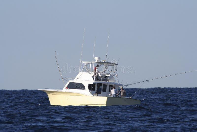 Sportfishing Boat. Sport Fishing Boat in the Gulfstream Fishing for Gamefish royalty free stock photography