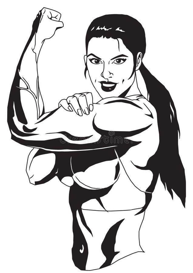Sportflicka royaltyfri illustrationer