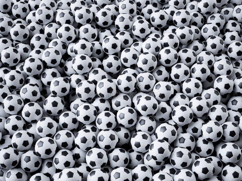 Sportfußball-Fußballkonzept lizenzfreie abbildung