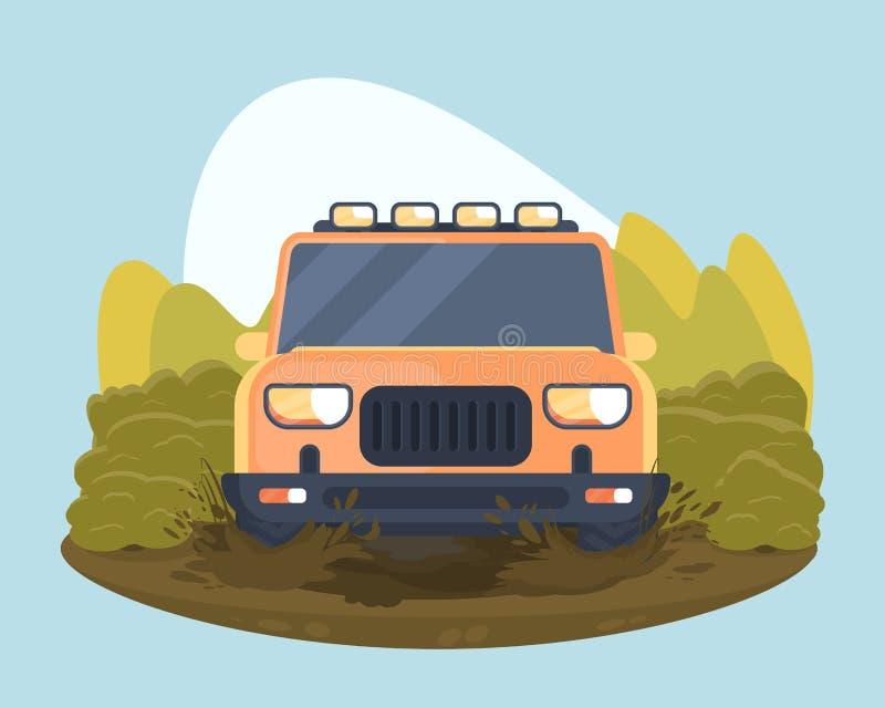 Sportgebrauchsfahrzeug nicht für den Straßenverkehr lizenzfreie abbildung