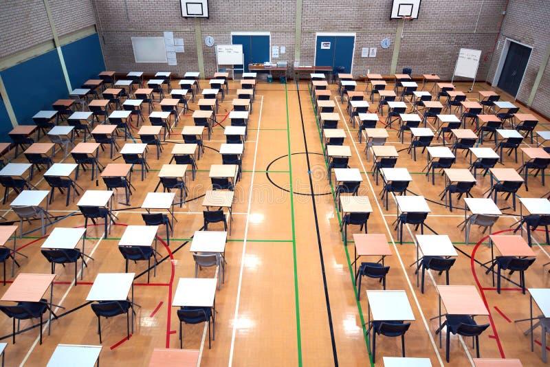 Sporthalopstelling voor examens royalty-vrije stock foto