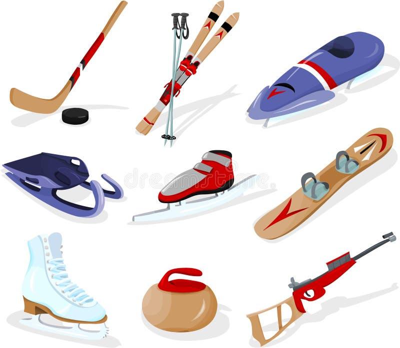 sporthjälpmedelvinter royaltyfria bilder