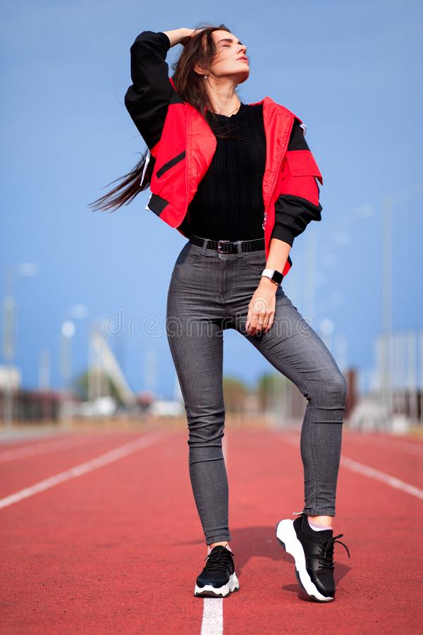 Sportief meisje royalty-vrije stock afbeeldingen