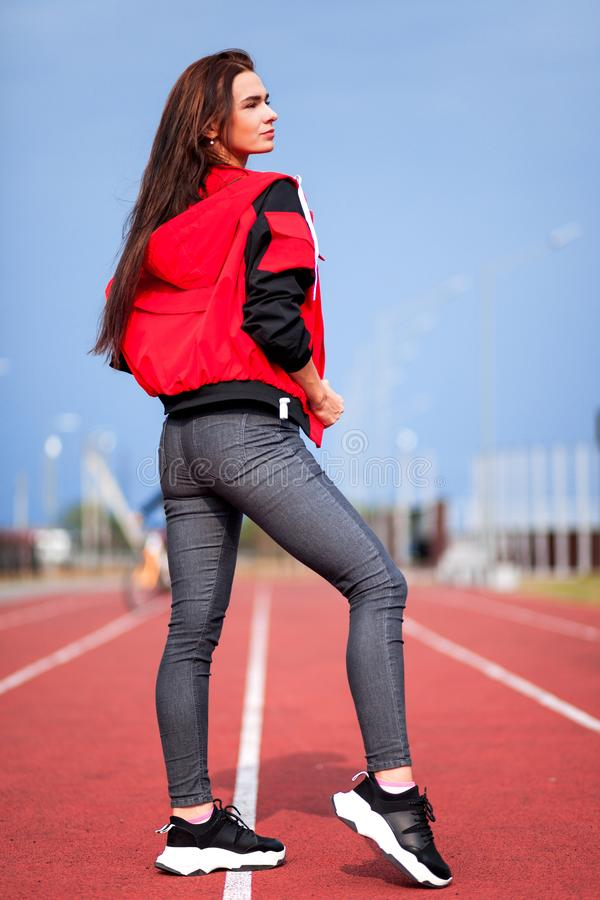 Sportief meisje stock foto's