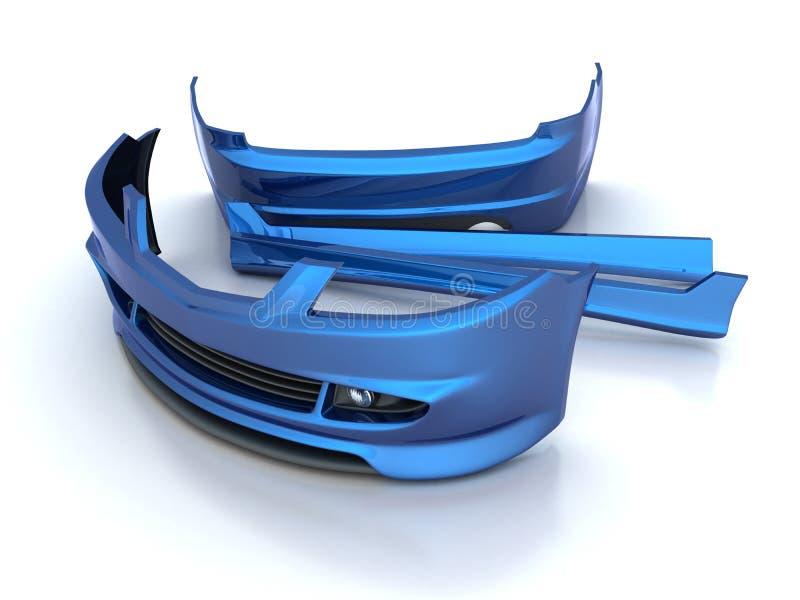 Sportieve (blauwe) reparatiedelen royalty-vrije illustratie