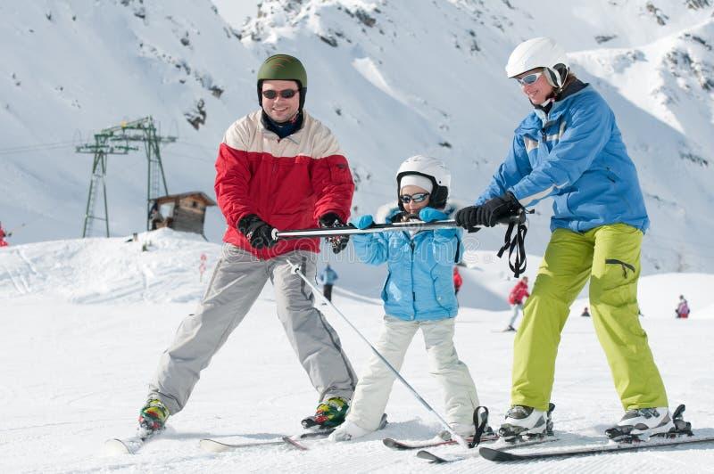 Sportieve familie royalty-vrije stock fotografie