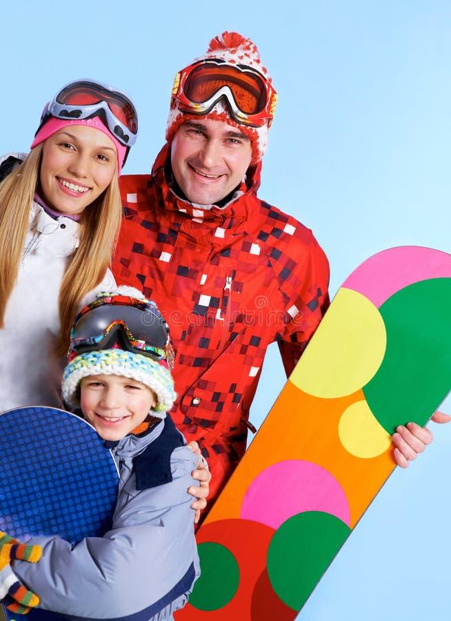 Sportieve familie royalty-vrije stock afbeelding
