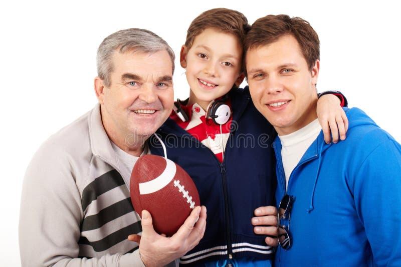 Sportieve familie stock foto's