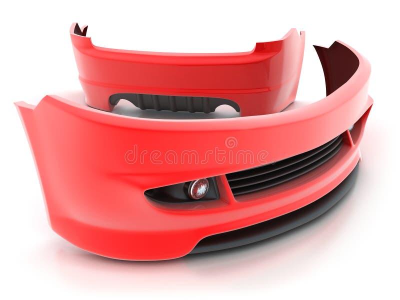 Sportieve (rode) reparatiedelen vector illustratie