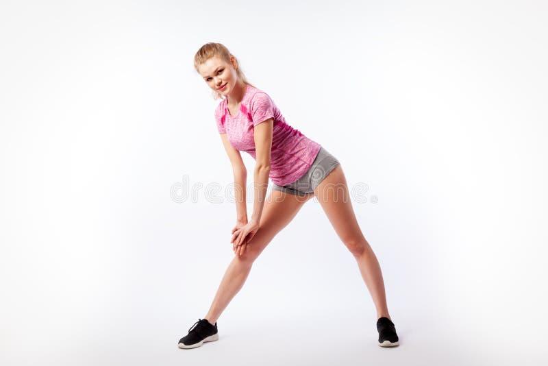 Sportieve vrouw royalty-vrije stock afbeelding