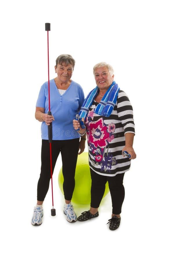Sportieve vrouwelijke oudsten royalty-vrije stock afbeelding